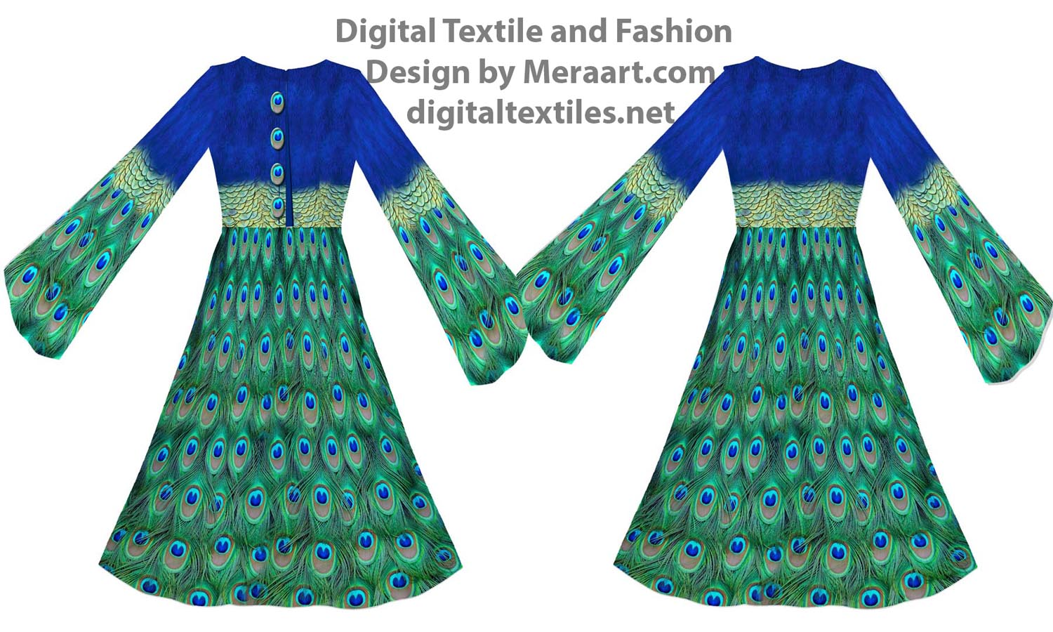 Digital textile fashion prints designer dress online servies (2)