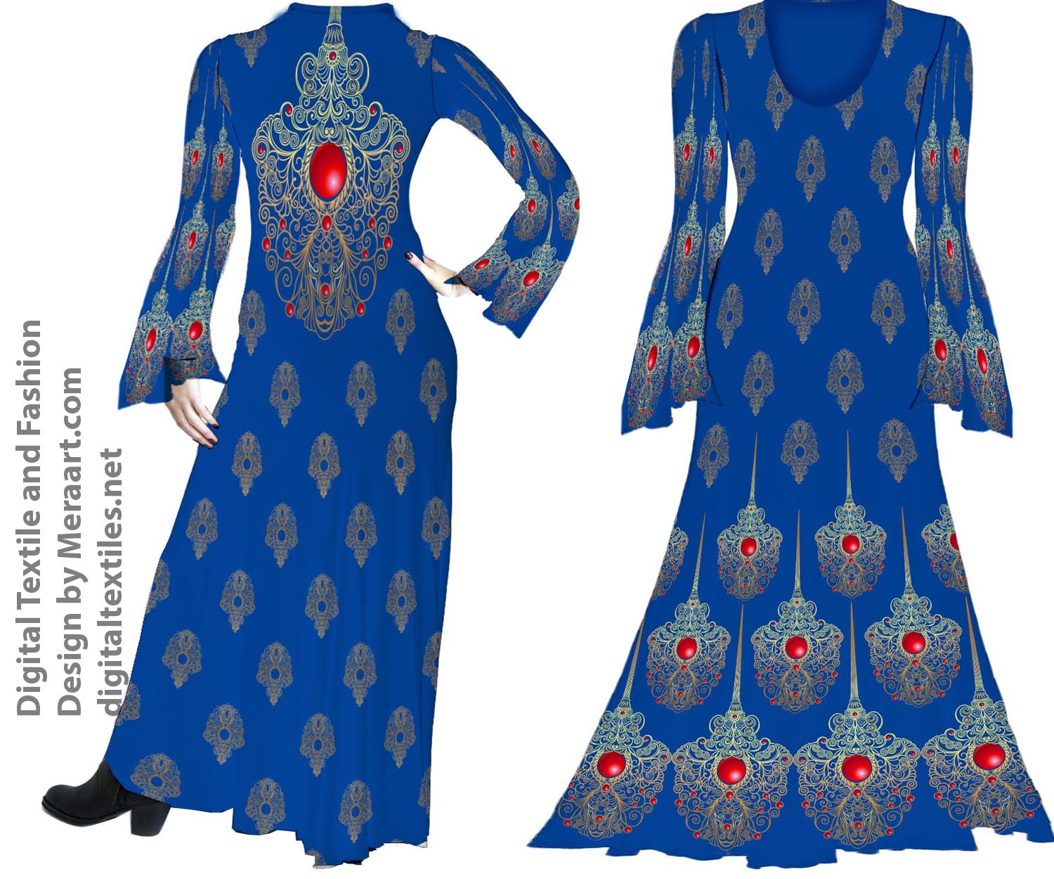 Digital textile fashion prints designer dress online servies (4)