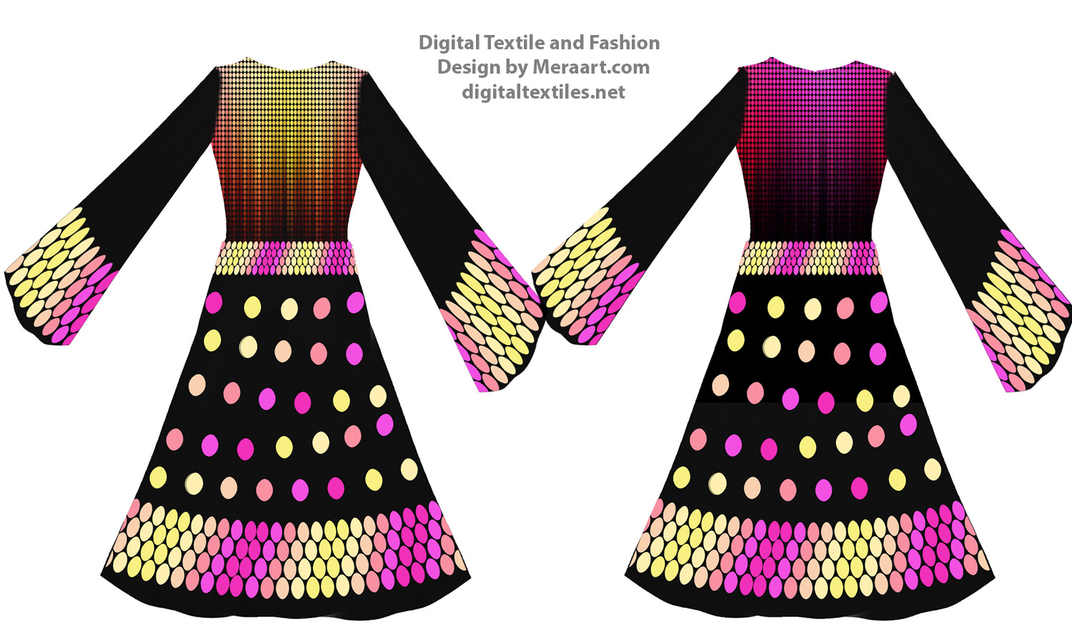 Digital textile fashion prints designer dress online servies (6)