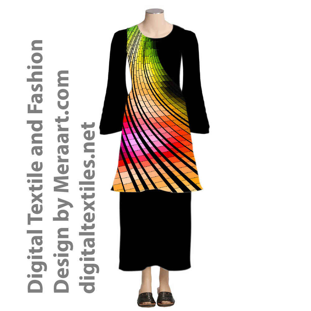 Digital textile fashion prints designer dress online servies (7)