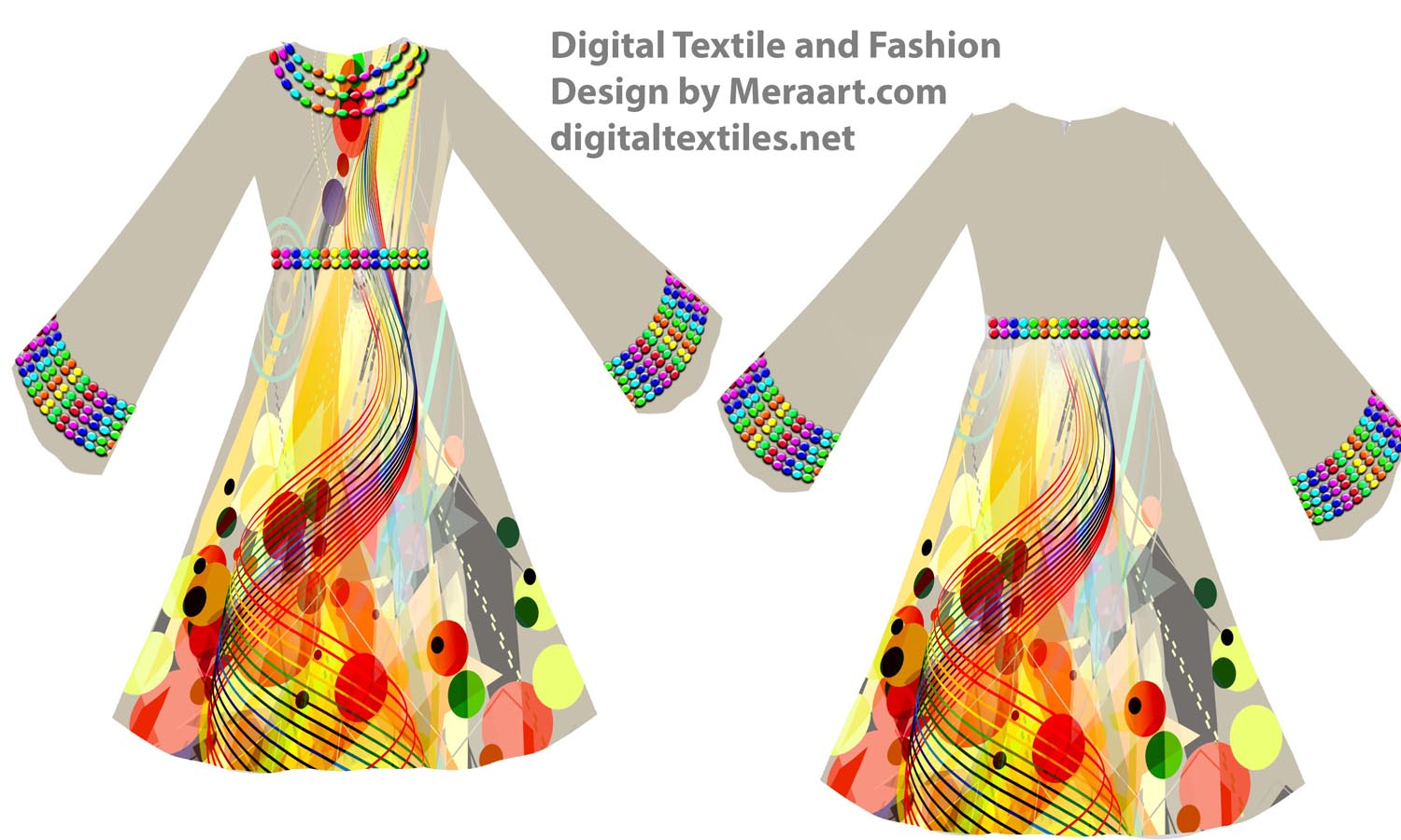Digital textile fashion prints designer dress online servies