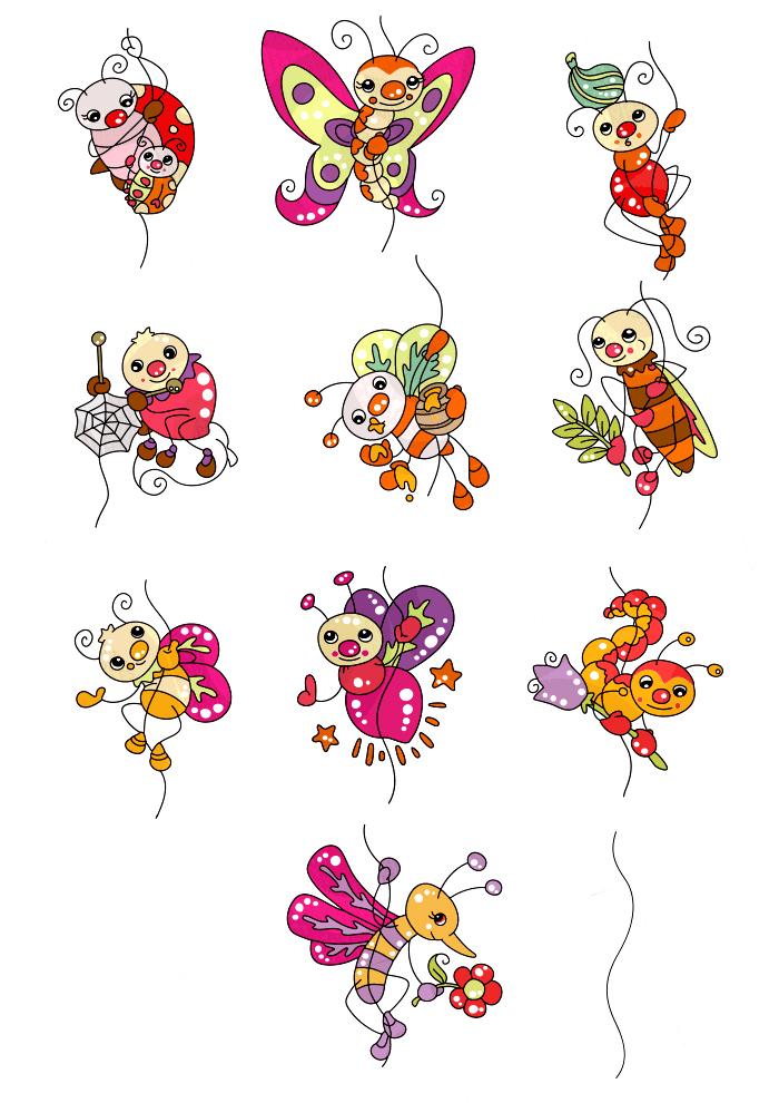 Cute baby bugs