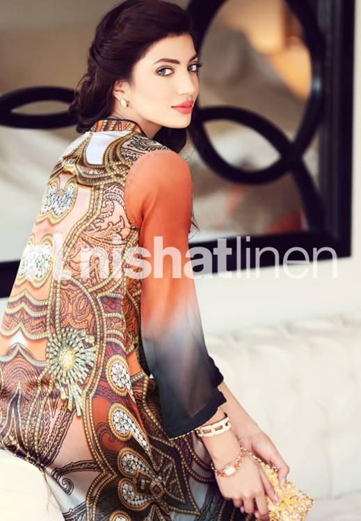 latest Digital Printed Fashion designer Dresses Collection Nishat Linen (10)