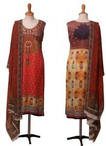 Nickie Nina, Digital fashion Collection 2013 ,Elegant Digital Prints Dresses , digital textiles, digital fashion dresses,textilesandfashion.com, madeinpakistan.net