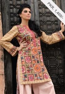 Digital Printed Winter Frock Collection, Alkaram Digital textiles, fashion girls women  (1)