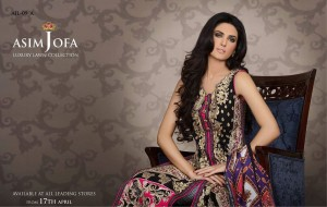 Asim Jofa Luxury Digital Lawn collection, digital textiles , textileandfashion.com meraart.com digitaltextiles.net