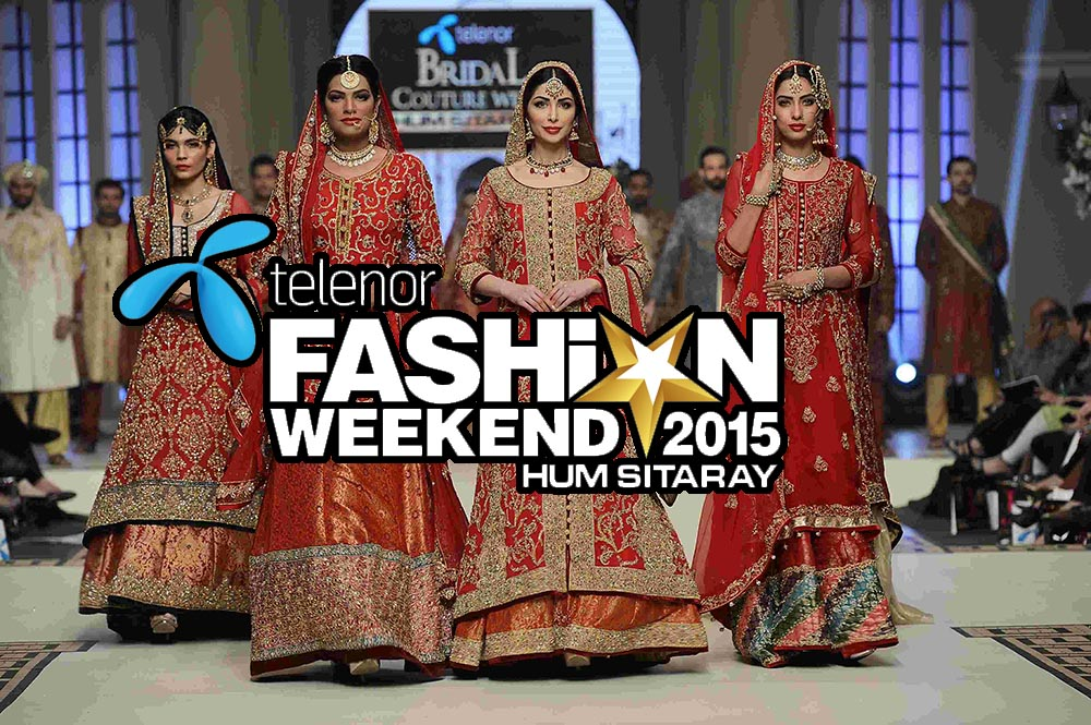 Telenor Fashion Weekend, HUM Network, Bridal Couture Week, Royal Palm Golf & Country Club Lahore , Telenor Fashion Weekend Lahore, Telenor Fashion Week Lahore 2015,Telenor Fashion Weekend 2015, ChenOne, Erum Khan, Faika Khan, Eden Robe, Breakout, PIFD Graduate Show, Hangten, Rang Ja, Outfitters, Urban Culture, Harmony, Forestblu, Toni&Guy Trend Show, Raj at Yas, PAREESA