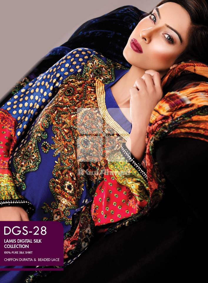 Lamis Digital Silk Collection by GulAhmed made in pakistan (1)