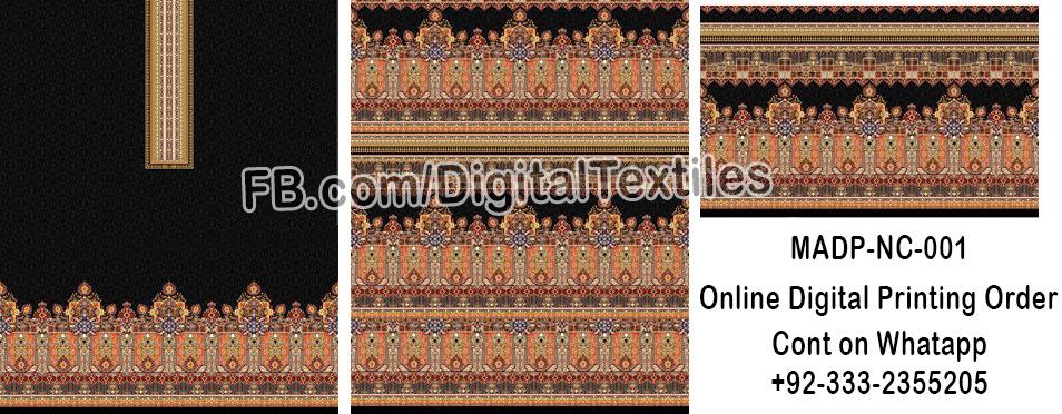 Online Digital textile printing and designing services in pakistan MRDP-NC-001 meraart