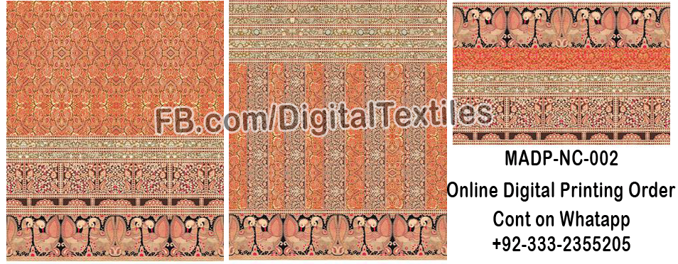 Online Digital textile printing and designing services in pakistan MRDP-NC-002 meraart