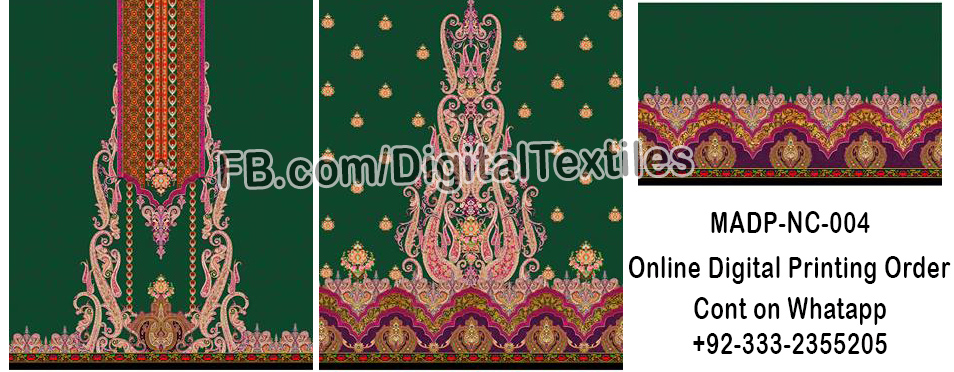 Online Digital textile printing and designing services in pakistan MRDP-NC-004 meraart