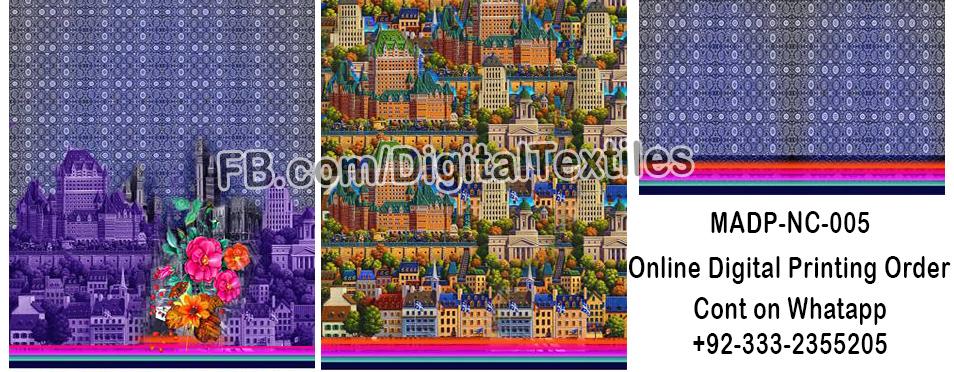 Online Digital textile printing and designing services in pakistan MRDP-NC-005 meraart