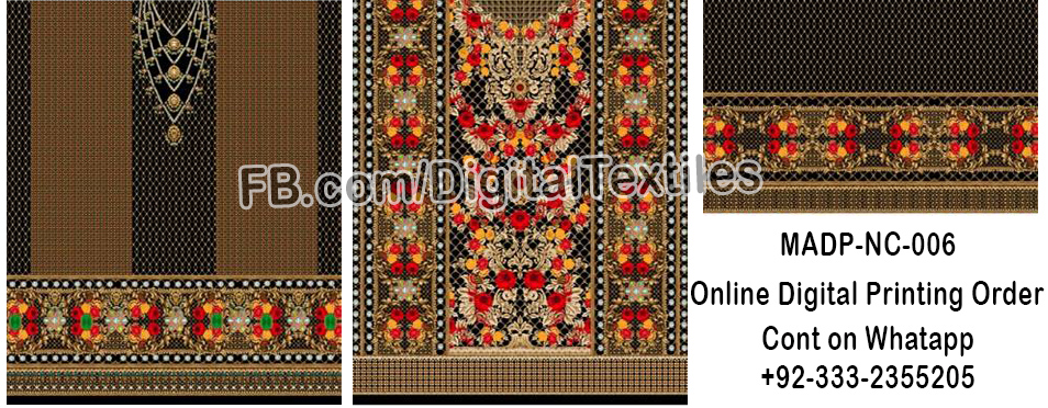 Online Digital textile printing and designing services in pakistan MRDP-NC-006 meraart