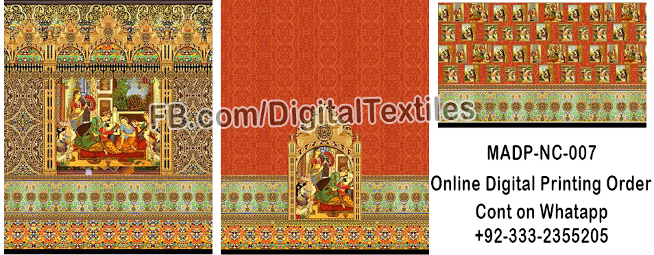 Online Digital textile printing and designing services in pakistan MRDP-NC-007 meraart