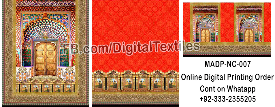 Online Digital textile printing and designing services in pakistan MRDP-NC-008 meraart