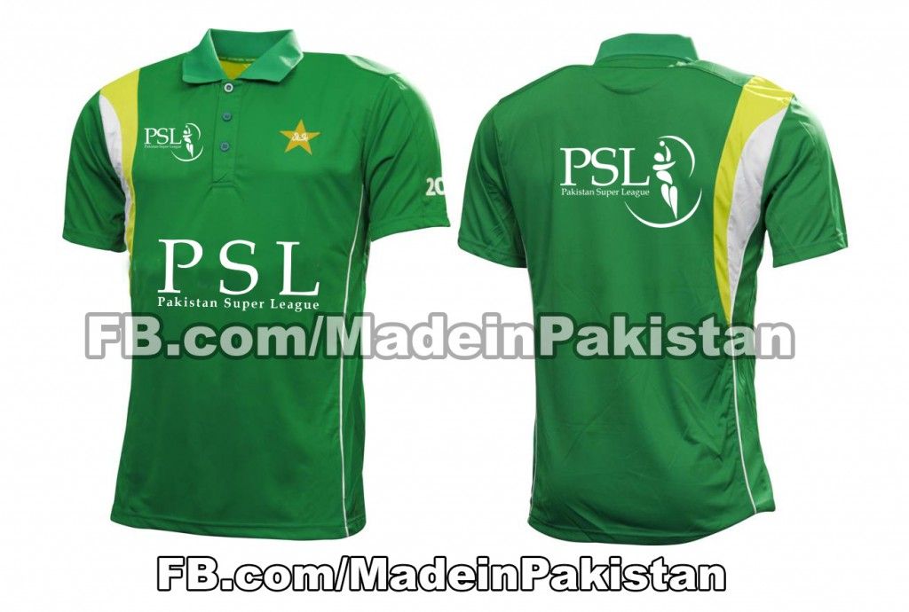 pakistan super league 2016 SPLT20 2020 Team Tshirts Garments kit