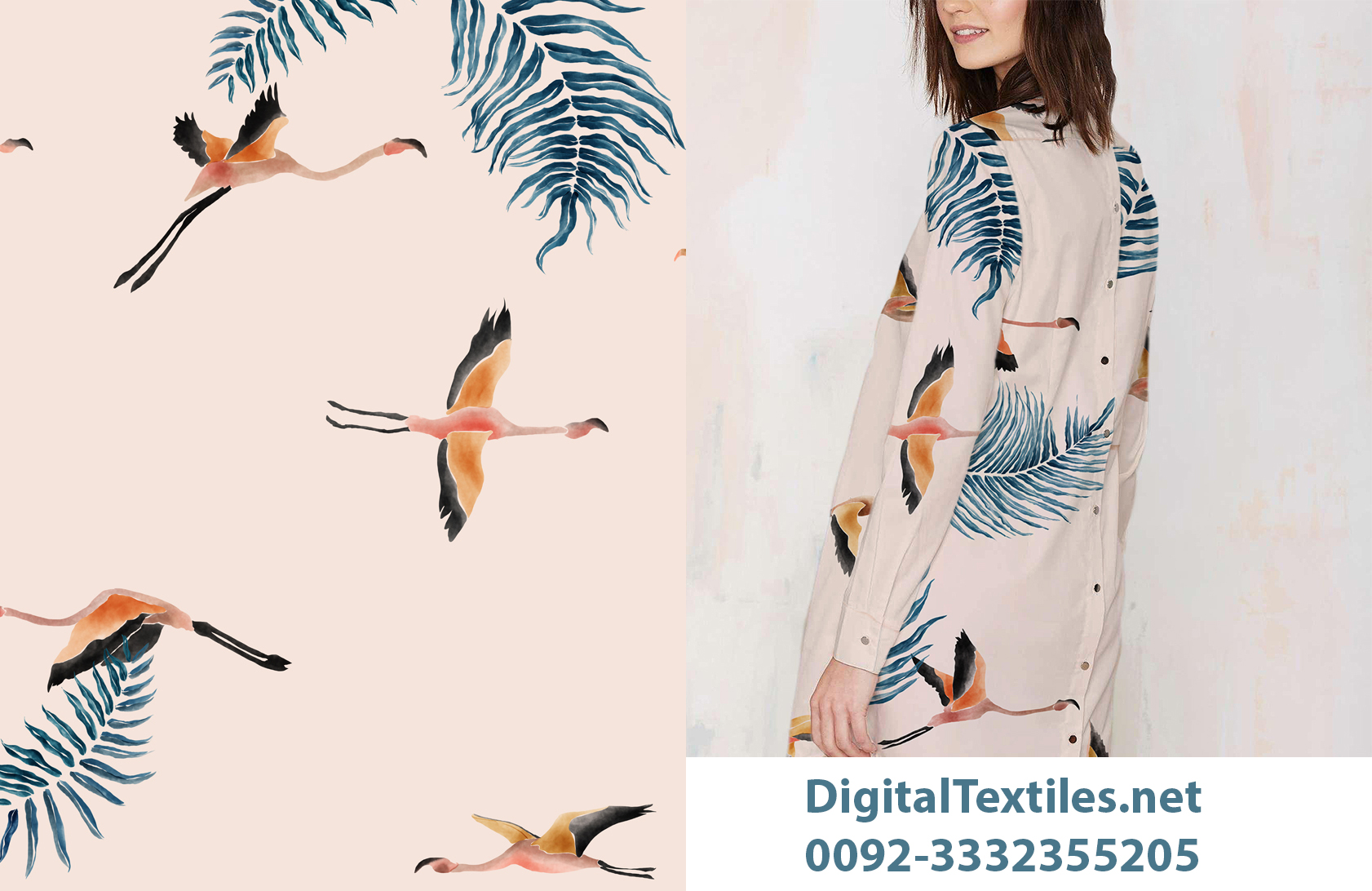 Digital Textile and Fashion students print and design thesis projects assignments services Pattern Design