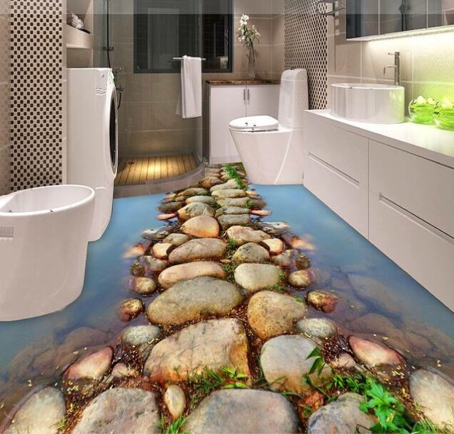 Tiles Are The Most Common Choice For Bathroom Flooring, But If You Want To  Make The Floor More Eye Catching, Then You May Add Some 3D Floor Designs.
